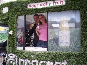 Launch of innocent drinks in Paris