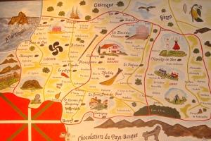 Basque chocolatier village