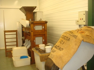 Old chocolater roaster in Cazenave's workshop