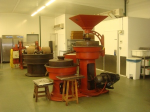 Conching machine in Cazenave workshop