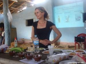 Liquor tasting with the cocoa farmers