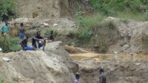 Youth involved in illegal mining