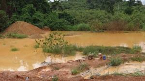 illegal mining, Western Ghana